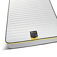 Jay-Be Benchmark S5 Yellow Open Coil & E-Pocket Spring topped with Advance e -Fibre hypoallergenic Water resistant Open coil Single Mattress