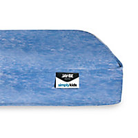 Jay-Be Simply Kids Blue Foam free Waterproof Pocket sprung Single Mattress