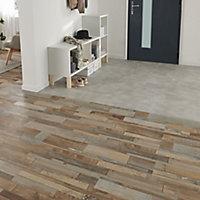 Jazy Light grey Tile effect Luxury vinyl click Flooring Sample