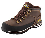 JCB Brown 3CX Hiker Non-safety boots, Size 12