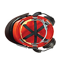 JSP Orange & black Forestry helmet with Ear defenders & visor