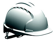 JSP White Invincible® EVO®2 Safety helmet