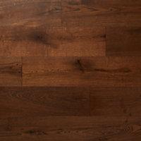 Kailas Satin Oak Real wood top layer Flooring Sample