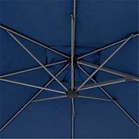Kalanga 2.5m Abyss blue Overhanging parasol