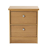 Kendal Matt oak effect 3 piece Bedroom furniture set