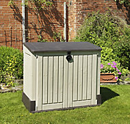 Keter Store it out midi Wood effect Plastic Garden storage box