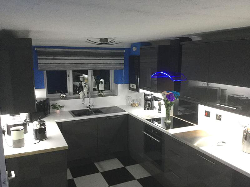 Glossy Grey Cabinets For An Ultra Modern Kitchen Look