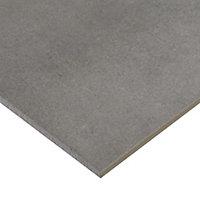 Konkrete Grey Matt Concrete Concrete effect Porcelain Outdoor Tile, Pack of 3, (L)610mm (W)610mm