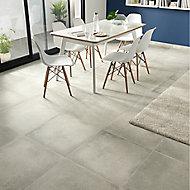 Kontainer Light grey Matt Concrete effect Porcelain Floor Tile Sample