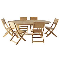 Kuantan Wooden 6 seater Dining set