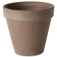 Laleh Brown Terracotta Round Plant pot (Dia)23cm