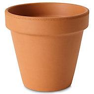 Laleh Terracotta Terracotta Plant pot (Dia)17.1cm