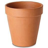 Laleh Terracotta Terracotta Plant pot (Dia)27.3cm