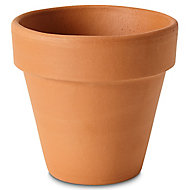 Laleh Terracotta Terracotta Round Plant pot (Dia)11.2cm