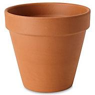 Laleh Terracotta Terracotta Round Plant pot (Dia)23cm
