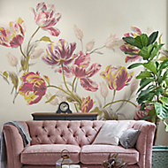 Laura Ashley Gosford Cranberry Floral Matt Mural