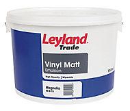 Leyland Trade Magnolia Matt Emulsion paint 10L