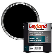Leyland Trade Specialist Black Semi-gloss Metal paint, 2.5L