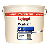 Leyland Trade Trade Contract White Matt Emulsion paint 12L