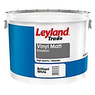Leyland Trade Tradesman Trade Brilliant white Matt Emulsion paint 10L