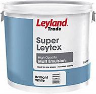 Leyland Trade Tradesman Trade White Matt Emulsion paint 15L