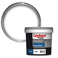 Leyland Trade White Damp block paint, 2.5L