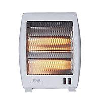 Light grey Freestanding Quartz heater 1000W