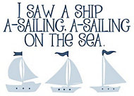 Little sailor Blue Self-adhesive Wall sticker