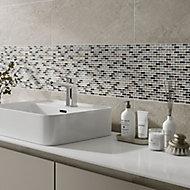 Lodi Beige Glass Mosaic tile, (L)286mm (W)286mm