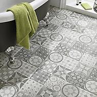 Lofthouse Grey Matt Plain patchwork Stone effect Ceramic Wall & floor Tile, Pack of 11, (L)300mm (W)300mm