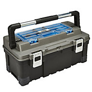 """Mac Allister 22"""" Plastic 1 compartment Toolbox"""