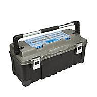"""Mac Allister 26"""" Plastic 1 compartment Toolbox"""
