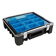 Mac Allister HD 400 Black & blue 12 compartment Tool organiser