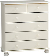 Malmo White 6 Drawer Chest (H)901mm (W)823mm (D)383mm