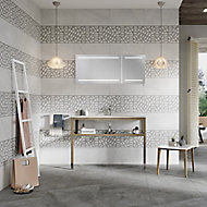 Manhattan Grey Matt Moroccan Ceramic Tile, Pack of 5, (L)600mm (W)300mm