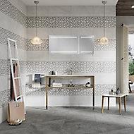 Manhattan Grey Matt Moroccan Ceramic Wall tile, Pack of 5, (L)600mm (W)300mm