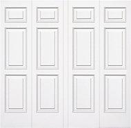 Manhattan Made to measure Framed White Retractable Garage door