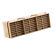 Manrose Beige Rectangular Brick vent, (H)76mm (W)229mm