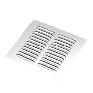 Manrose Chrome effect Square Applications requiring low extraction rates Fixed louvre vent, (H)229mm (W)229mm