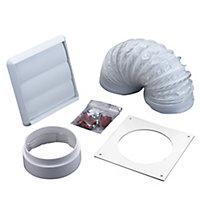 Manrose V43076 White Cooker hood venting kit (D)100mm