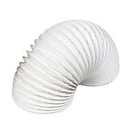 Manrose White PVC Flexible Ducting hose, (L)1m (Dia)100mm
