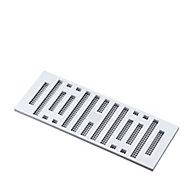 Manrose White Rectangular Adjustable vent & Fly screen, (H)76mm (W)229mm