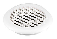 Manrose White Round Applications requiring low extraction rates Fixed louvre vent, (Dia)100mm