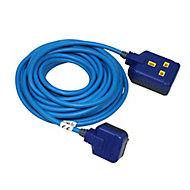 Masterplug 1 socket 13A Blue Extension lead, 10m