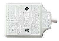 Masterplug 1 socket White Extension lead, 8m