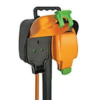 Masterplug 2 socket 13A Black Extension lead, 15m