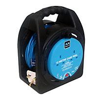 Masterplug 2 socket Cable reel, 12m