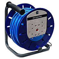 Masterplug 4 socket Cable reel, 45m