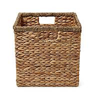 Mixxit Seagrass & water hyacinth Foldable Storage basket (H)310mm (W)310mm