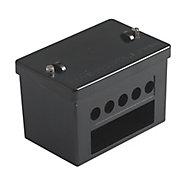 MK Black 100A 5 way Junction box 60mm